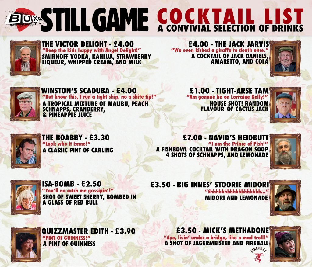 STILL GAME COCKTAIL LIST copy